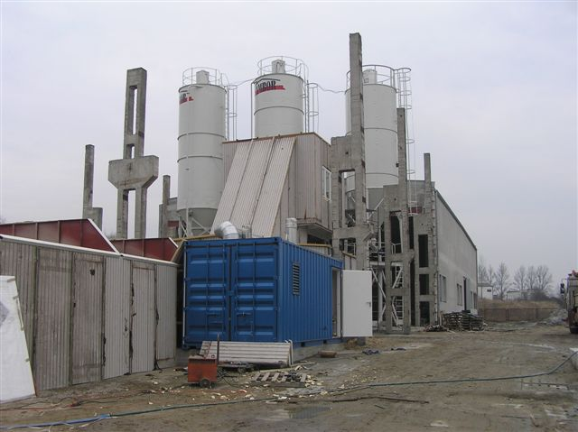 Obudowa węzła betoniarskiego
